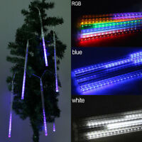 50cm 320 LED Lights Meteor Shower Rain 8 Tube Xmas Snowfall Tree Outdoor Light D