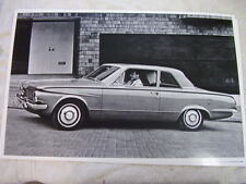 1964 PLYMOUTH  VALIANT 2DR  11 X 17  PHOTO  PICTURE