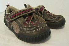 Stride Rite Calvin Toddler Boys Shoes Brown Leather Rip Tape Sneakers 5 1/2 Wide