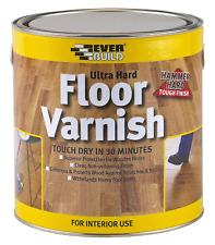 Everbuild Ultra Hard floor varnish - 750ml - CLEAR GLOSS