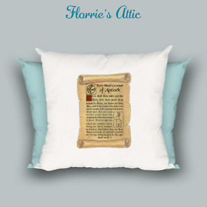 HANDMADE CUSHION ~ MONTY PYTHON - HOLY HAND GRENADE OF ANTIOCH