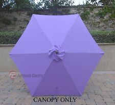 9ft Patio Outdoor Market Umbrella Replacement Canopy Cover Top 6 ribs. Lavender