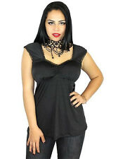Pinup Rockabilly Retro Babydoll Gothic Punk Sweetheart VTG Inspired Tank Top S