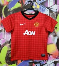 Manchester United Fc Football Shirt Soccer Jersey Top Nike Boys size S 4-5 Years