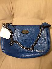 NWT Coach Large Leather Chain Wristlet Purse Bag #53340