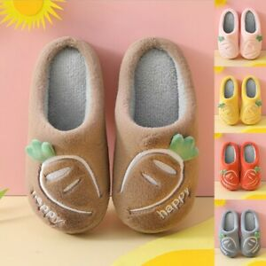 Kids A Pair Of Slippers Models Thickened Autumn Children'S Cotton Slippers