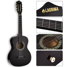 "34"" Acoustic Guitar with Nylon Strings for Kids Adults Learner in Black"