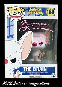 Funko POP! - Pinky and The Brain - The Brain - Signed by Maurice LaMarche - JSA