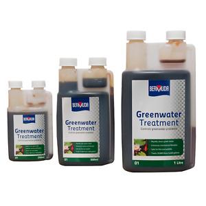 BERMUDA GREENWATER POND TREATMENT GREEN ALGAE CLOUDY CLEAR FISH KOI SAFE