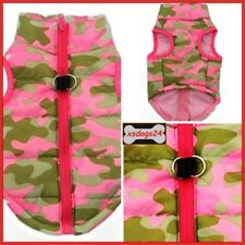 Hundeweste Mantel Softgeschirr Welpe Jacke Pullover Camouflage-Rosa XS-L