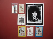 KISS,promo photo,6 different Backstage passes,RARE ANIMALIZE TOUR Originals