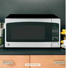 Ge 2. 00006000 0 cu. ft. Full Size Countertop Microwave in Stainless Steel