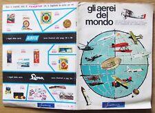 ALBUM FIGURINE GLI AEREI DEL MONDO - Ed. SAGITTARIO, 1968 COMPLETO (-2)* OTTIMO