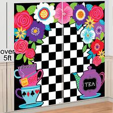 5FT SOMBRERERO LOCO TEA PARTY Escena Setter Alicia en el país de las maravillas Decoración de pared 70609