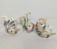 Fitz and Floyd Kitten Kaboodle Trio Figurines