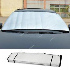 Scheiben Abdeckung Frontscheibe Schutz Sonnen Schneeschutz Thermo Folie Silber