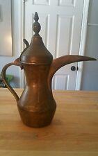 Antique 18c Islamic Turkish Ottoman Coffee Pot Signed Thugra Ewer
