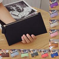 Womens Lady Leather Clutch Wallet Long PU Card Holder Purse Handbag Zipper Bag