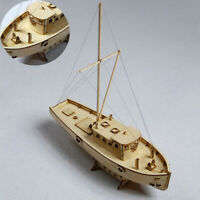 DIY Ship Assembly Model Kits Wooden Sailing Boat 1:30 Scale Decoration Toy Gift