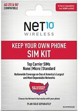 New listing Net10 Wireless Keep Your Own Phone 3-in-1 Prepaid Sim Kit