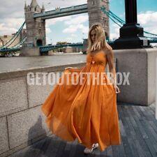 H&M orange tie detail wide long dress Size 20 BNWT Sold out