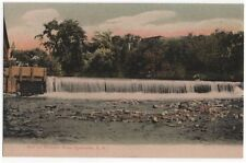 Rochester, New Hampshire, Early View of The Dam on The Cocheco River