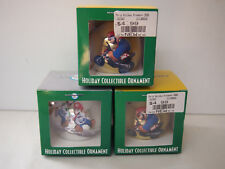 Super Mario LOT of 3 Christmas Tree Ornaments Ball Style VHTF Nintendo
