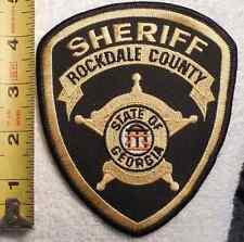 ROCKDALE COUNTY GEORGIA SHERIFF PATCH (HIGHWAY PATROL, SHERIFF, EMS, STATE)