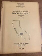 Geologic Map Of California, Bakersfield Sheet, 1965/ 1971