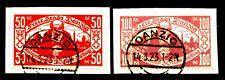 DANZIG 1923 131-132 gest KLEINRENTNERHILFE gepr INFLA BPP 110€(J0830