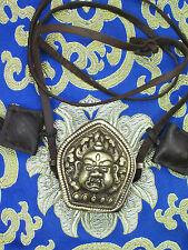 TIBETAN BUDDHIST WRATHFUL MAHAKALA PROTECTOR DEITY AMULET GHAU BOX NECKLACE GAU