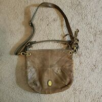 FOSSIL Long Live Vintage Brown Multicolored  Leather Cross body Shoulder Purse