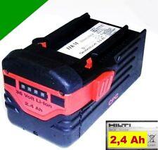 Original Hilti batería b36/2, 4 li 36 voltios Li-ion 2,4 ah. 2400 mah 36 V te 6a