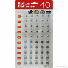 Batteries Watches, Games Etc 40 X Assorted Button Cell