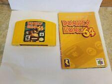 Donkey Kong 64 (Nintendo 64, N64, 1999) Game Cartridge and Manual tested