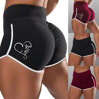 Damen Sommer Sport Shorts Hot pants Kurze Laufhose Sweathose Jogging Kurzhose