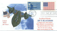 SR-71 Lockheed BLACKBIRD RECON AIRCRAFT US.AIR FORCE Color Cachet First Day PM