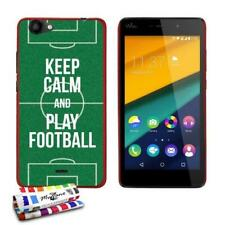 COQUE WIKO PULP FAB (4G) KEEP CALM AND PLAY FOOTBALL SILICONE ROUGE RIGIDE (TPU)