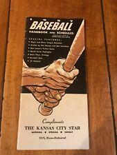 1957 BASEBALL HANDBOOK AND SCHEDULES W/ MICKEY MANTLE