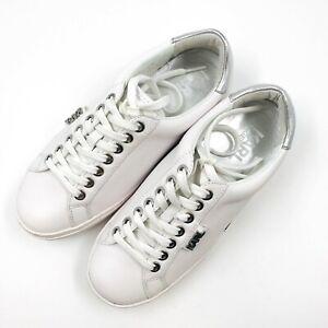 Karl Lagerfeld White Leather We Love KARL Sneakers Size EUR 36 UK 3 US 5