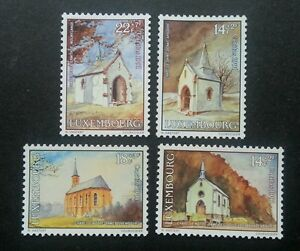 Luxembourg Chapels Charity Issue 1991 Church Building Architecture (stamp) MNH