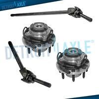 4pc Front LH RH U-Joint Axle & Wheel Hub Set for 4x4 99-04 Ford F250 SD F350 SD