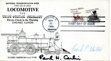 POSTMASTER GENERAL PAUL N. CARLIN SIGNED LOCOMOTIVE STAMP FIRST DAY 1982 COVER