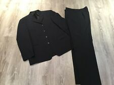 Blue Pinstripe Merino Wool Suit From Next - 44R Jacket 36L Trousers - Ex Cond