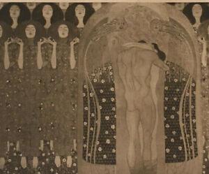 Gustav Klimt  LIchtdruck nach Original   kuk Hof- und Staatsdruckerei Wien