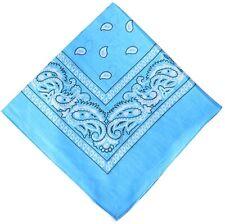 1/2 Dozen (6PC) Bandanas ~ Face Cover ~ Handkerchief ~ Bandana L Blue
