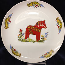 "ROYAL ANN SWEDISH DALA HORSE PLATE 10 3/8"" MINNEAPOLIS MINNESOTA"