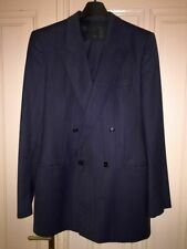 HUGO BOSS (jacket+pants) blue gray cashmere wool double breasted suit 102 42L