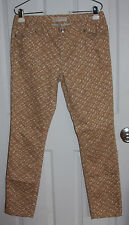 Michael Kors Printed Pants Size 6 Cotton Poly Spandex Blend Stretchy Skinny