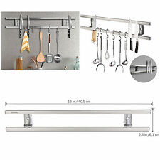 16'' Magnetic Knife Holder Double Bar Rack Wall Mounted for Kitchen Sets